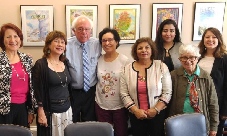 2018 with Senator Bernie Sanders